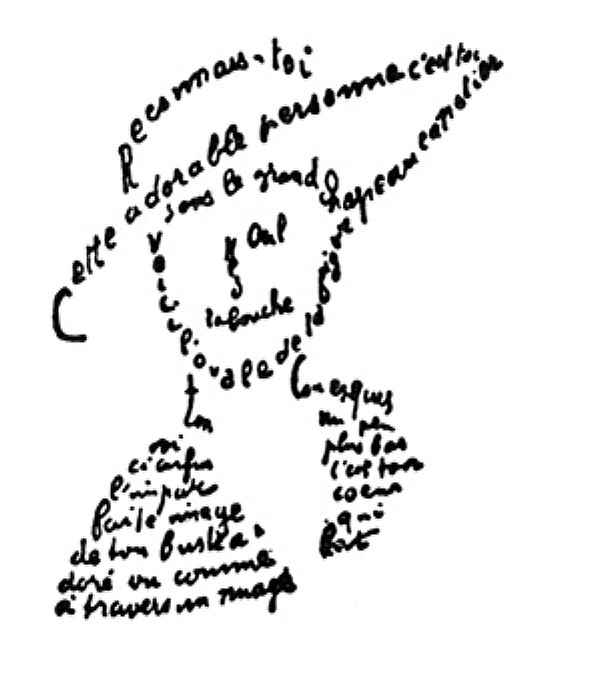 Apollinaire s calligrammes words and eggs for Coeur couronne et miroir apollinaire