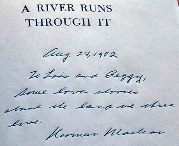 A river runs through it analytical essay