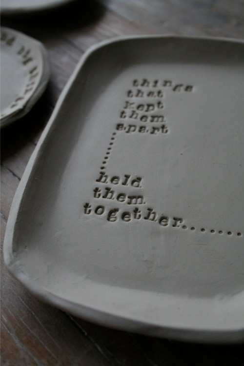 things poetry pot