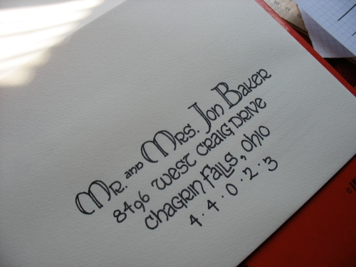 Wedding invitation address