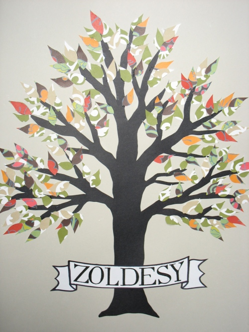 Early stage of Zoldesy family tree (pre-names). Sometimes I like the trees on their own! Maybe I should offer those, too? Sans names?
