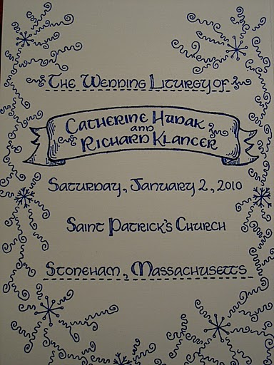Front cover of the wedding program