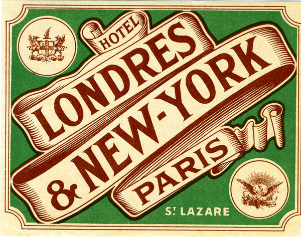 Vintage international hotel luggage labels. | Words and Eggs